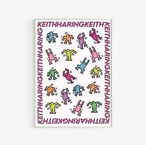 Keith Haring Illustration Art Exhibition Poster Vintage Art Poster Print