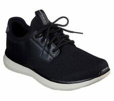 Skechers Shoes Men Black Memory Foam Casual Comfort Oxford Soft Mesh Knit 66272