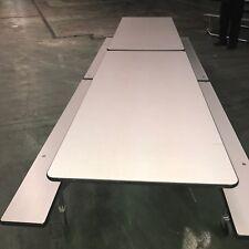 Lot - Used School Cafeteria Furniture - Ki Industries 12' Mobile Lunchroom Table