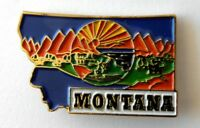 MONTANA US STATE MAP LAPEL PIN BADGE 1 INCH