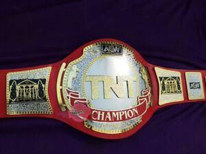 TNT AEW Championship Belt Replica Wrestling Genuine Leather Belt All plates AVLB