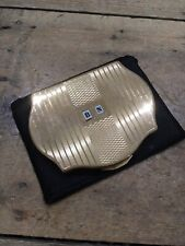Vintage Stratton Powder Compact Unused Regency Style Gold Colour