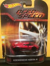 1/64 HOT WHEELS NEED FOR SPEED KOENIGSEGG AGERA R RED AND BLACK