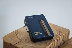 Sony Walkman WM-B14 Vintage Cassette Player blau Kassetten MC 1989