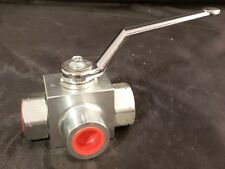 High Pressure Hydraulic Ball Valve 3 way 3/8  NPT Ports Anchor Fluid Power