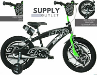 "Dino Bikes 16"" Inch BMX Black/Green Kids Children Unisex Speed Bike Bicycle New"