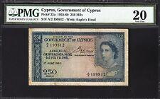 CYPRUS 250 MILS 1955  PMG 20 VERY FINE P.33a
