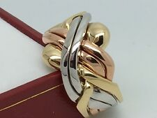 SOLID Tri Colour Yellow White & Rose 9 Carat Gold 6 Piece Puzzle Ring