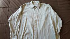 John W. Nordstrom Twill Men's Button Down Shirt Size 17 1/2 - 37 Olive Green