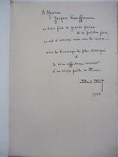 FORT Paul - Vol d'Oiseaux Noirs - EO Ex N° Envoi Signé Autographe ILL Welsh 1938