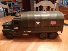 2002 Hasbro GI JOE Troop Carrier Truck  With sounds  NICE !! Removable Top