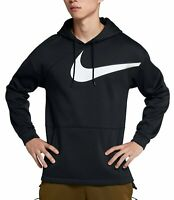 New Nike Project X Therma Hoodie Black Men's Size Small Swoosh Big Logo Pullover