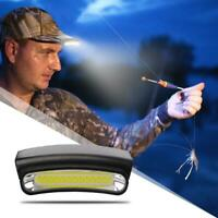 COB LED Induction Cap Clip Light Flashlight Waterproof Outdoor Fishing Headlamps
