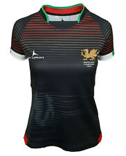 Olorun Wales Grand Slam 2019 Contour Home Nations Ladies Away Rugby Shirt 8 - 22
