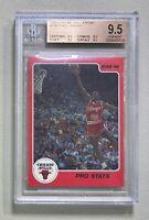1986 Star #4 Pro Stats Michael Jordan RC BGS 9.5 Rookie TRUE GEM MINT Quad 9.5s