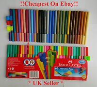 Faber-Castell Connector Clip Fibre Felt Tip Pens Vibrant Colours - Pack of 50