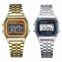 F-91W SPORT ALARM CHRONOGRAPH CLASSIC DIGITAL  RETRO WATCH GOLD