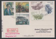 Dänemark-Faröer Insel 1994 Reko-Karte von Torshavn nach Deutschland