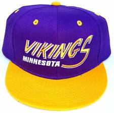 Vintage Minnesota Vikings Flatbill Snapback Cap Hat