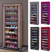 Portable 9 Grid Shoe Rack Shelf 10 Layer Storage Closet Home Organizer Cabinet