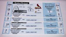 (4) Mark McGwire Unusead Season Tickets Career Home Run #523 Cardinals A's 70