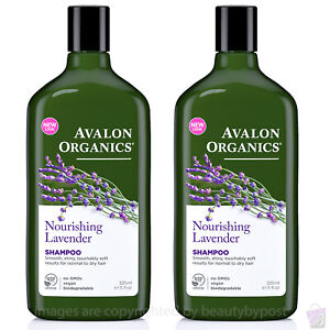 Avalon Organics Shampoo Nourishing Lavender for normal and dry hair PACK OF 2