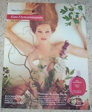 1987 print ad - Clarins Paris Sexy nude girl vintage Advertising ADVERT Page