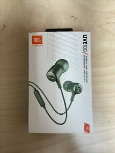 JBL LIVE 100 Headphones w/ remote and microphone on cable GREEN