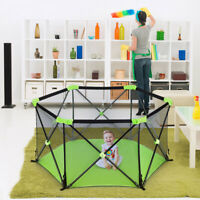 Baby Playpen Safety Fence Portable Toddler Infant Kids Play Space Travel Indoor