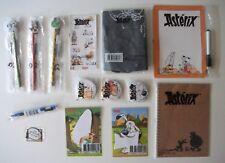 Lot 14 OBJETS Super U ASTERIX badges sac bloc-note tableau crayons + etc UDERZO
