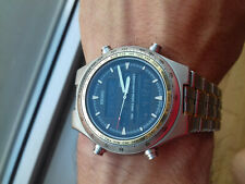Seiko Duo-Display H021-8001 Vintage Collection Chonograph Watch NOS Montre Rare