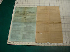 Vintage Paper: 2 papers 1928 Massachusetts tax paper, torn, worn as shown,SCARCE