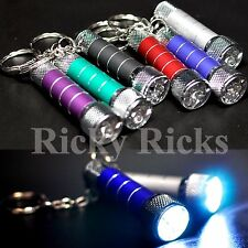10 Portable LED Mini Flashlights Light Up Torch Keychain Key Ring Key Chain