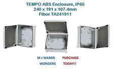 TEMPO ABS Enclosure, IP65, 240 x 191 x 107.4mm – Fibox TA241911