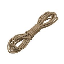 Round 1mm Waxed Cotton Jewellery Bead Cord Tan 1 Metre (N83/2)