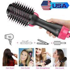 4-In-1 One Step Hair Dryer & Volumizer Brush Comb Straightening Curling Iron US