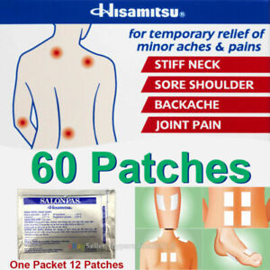 60 Patches Salonpas Ae Pain Relief Hisamitsu Japan Joint Muscle Sprain Arthritis