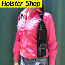 UHF Two Way Radio Holster Holder Security Style - Concealed LHS HOLHCLBK
