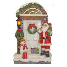 23cm Luccicante Babbo Natale Porta Ornamento con Chiaro – Decorazione