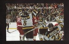 Notre Dame Fighting Irish--1994-95 Hockey Pocket Schedule