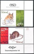 Iceland 2005 Mice/Mouse/Nature/Animals/Rodents/Wildlife 2v set (n13938)