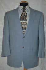 Canali Super 120's Men's Blue & White Check 2 Button Wool Sports Coat  Size 52/4