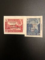 ADEN Kathiri State Of Seiyun 1946 Overprint Victory Issue Set 1½a 2½a Stamps (GS