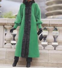Women's Winter Outerwear Tuxedo Faux Fur trim Long Coat plus Tag 1X &fit up 2X3X