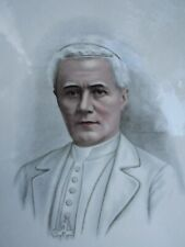 More details for vintage victorian plate of pope pius x portarit plate