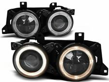 HEADLIGHTS LHD / RHD LPBM60 BMW 5 E34 / 7 E32 SERIES ANGEL EYES BLACK