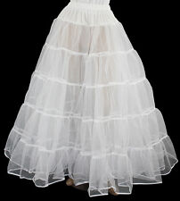 "New White Crinoline 4 Victorian Civil War Dress Size L/Xl W35""-45"" Length 40"""