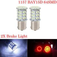 2X WHITE 1157 BAY15D 380 P21/5W 1206 COB LED BULBS BRAKE LAMP STOP TAIL LIGHT