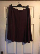 Ladies Burgundy Skirt