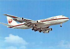JAPAN AIR LINES BOEING B 747 1121  Airplane Postcard
